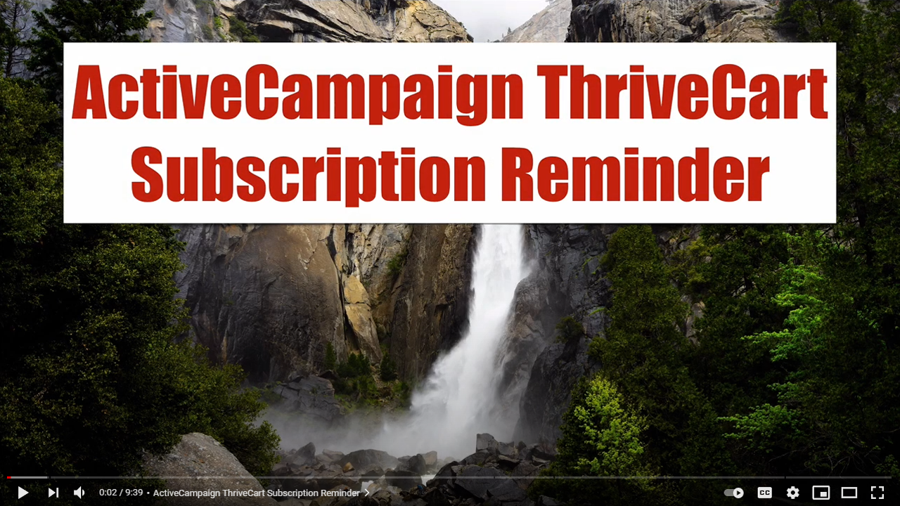 ActiveCampaign-ThriveCart-Subscription-Reminder